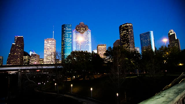 Downtown Houston at night